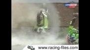 Избухване на Kawasaki по време на състезание