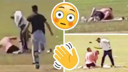 Секс в парка: Двойка се награби в парка, мъж им налетя на бой!