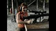 Майка Стреля С Най - Огромния Снайпер