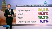 Партията на Путин с очаквана победа на парламентарните избори - централна емисия
