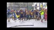 """Привърженици на """"Бока Хуниорс"""" се биха с полицията в Буенос Айрес"""