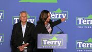 USA: VP Harris campaigns for Virginia Democratic candidate McAuliffe in Dumfries