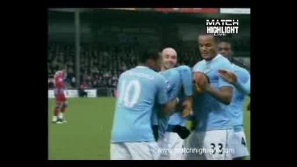 Гол на Мартин Петров Скънторп - Манчестер Сити 1:1