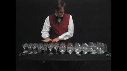 Музикална феерия с чаши !