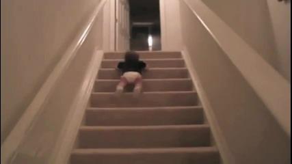 Най-бързото слизане по стълби