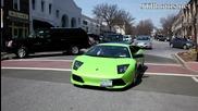 Lamborghini 640 блокиране на трафик
