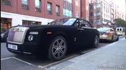 Изцяло покрит Rolls Royce с черно кадифе !
