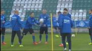 ВИДЕО: Англия и Естония се готвят за мача помежду си