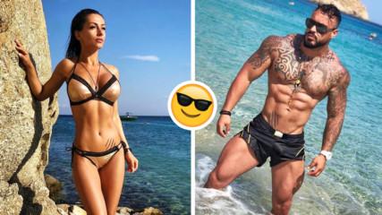 Горещо: Кристиан Кирилов и Джулия съблазняват със секси снимки от морето