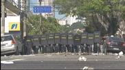 Бразилската полиция разпръсна със сълзотворен газ протест срещу Мондиала