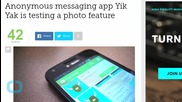 Anonymous Messaging App Yik Yak is Testing a Photo Feature