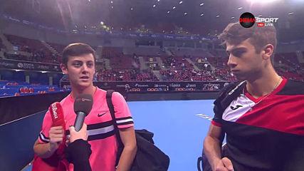 Лазаров и Донски доволни след участието си на Sofia Open