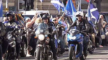 UK: Hundreds rally for Scottish independence on 5th IndyRef anniv. in Glasgow