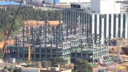 Китайци построяват този 57-етажен небостъргач само за 19 дена