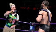 Enzo Amore kicks WWE Cruiserweight Champion Neville where it counts: WWE 205 Live, Sept. 19. 2017