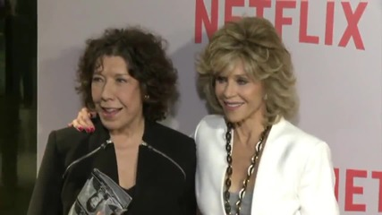 Legends Lily Tomlin and Jane Fonda Pose and Work Together