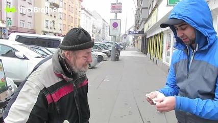 Пичове дават 1000 долара на бездомник заради честността му
