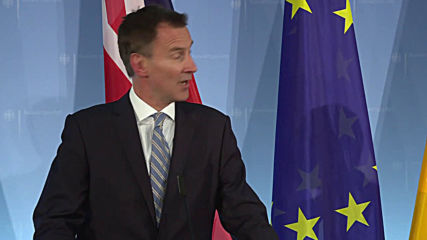 Germany: Jeremy Hunt 'very sad' over Conservative Party split