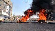 Sudan: Khartoum demonstrators set up barricades, burn tyres to protest military coup