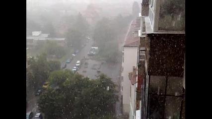 Сняг В София посред лято!!!