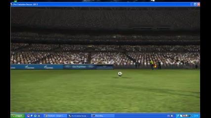 Красив Гол на Cristiano Ronaldo (pes 2013)