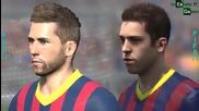 Fifa 14 vs Pes 14 Двубоят между лицата на Барселона