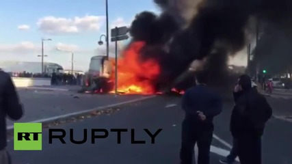 France: Funfair workers set up burning barricades, blocking roads in Rouen