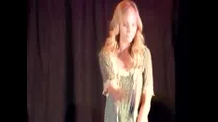 Candice Accola siging Let it shine at the Mystic Love convention.