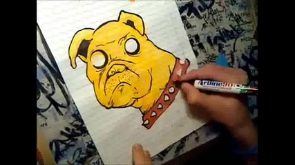 Graffiti Drawing Dog - Siren Crew!