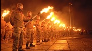 Ukraine: Far-right nationalists stage torch-lit march in Mariupol