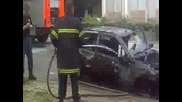 Гасене на горяща кола