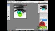 Ефект за око с фотошоп [как да сменим цвета и да добавим някой друг Ефект към оченцето]