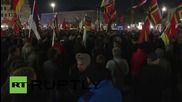Germany: PEGIDA supporters rally against refugee policy in Dresden