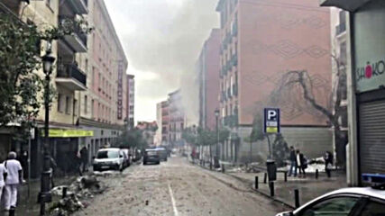 Взрив отекна в сграда в центъра на Мадрид