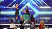 Предложение за брак в X Factor! Lauren Waguespack - The X Factor Usa 2013