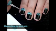 Nail art blue and black tutorial
