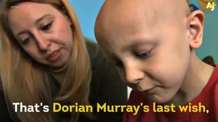 Последното желание на 8-годишно момче болно от неизлечима форма на рак