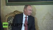 Italy: Putin meets President Mattarella for Rome talks
