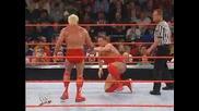 Батиста и Рик Светкавицата срещу Крис Беноа и Уилям Ригъл [ Unforgiven 2004 ]