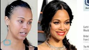 Zoe Saldana Steps Out Without Makeup