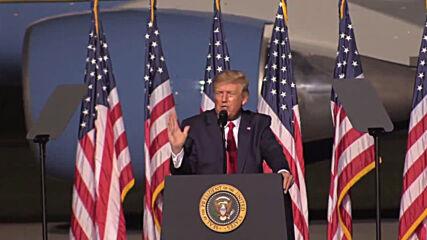 USA: 'I want a smooth, beautiful transition' – Trump at Virginia rally