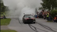 American Car Meeting Burnouts 2009 in Juthbacka Finland Hd