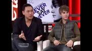 Interviu na Justin Bieber sys sladkata mu sestrika Djazi 01.02.2011