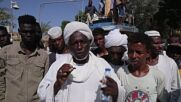 Sudan: Army supporters gather outside Presidential Palace in Khartoum for anti-govt protest