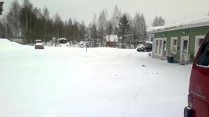 Мерцедес w124 om606 - на сняг