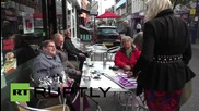 UK: Watch Farage confronted by angry 'anti-imperialist' activist