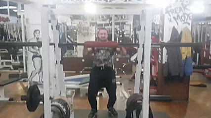 Обръщане с щанга без падане с подклек 145 кг - 3 пъти