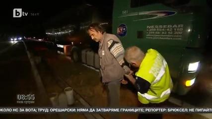 001_обърканият шофьор на Тир на Тракия спрял сам, полицията дошла след минута