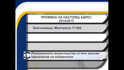 Регионалното министерство отчете масово преселение на избиратели