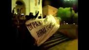 Ранобудните студенти преминаха огражденията пред парламента